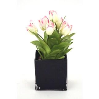 Tulip Silk Flower Bouquet Arrangement