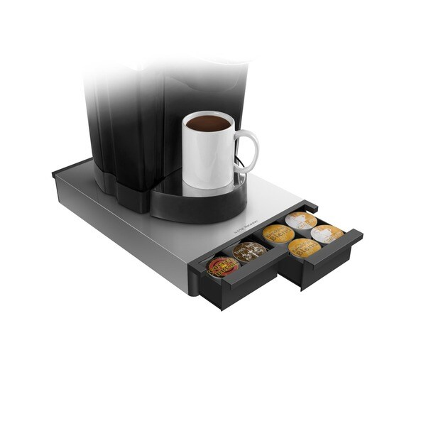 Mind Reader Silver/ Black Metal 28-capacity Coffee Pod Drawer