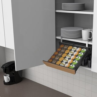 Mind Reader Under-the-cupboard 30-capacity Coffee Pod Drawer with Cork Front