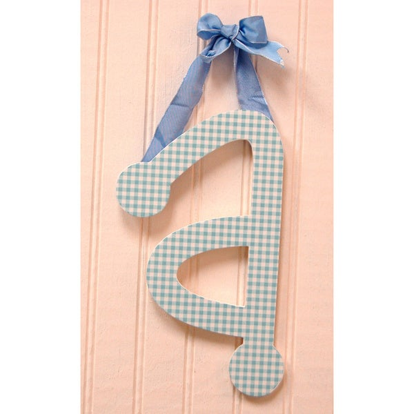 My Baby Sam Blue Gingham Decorative Lettering