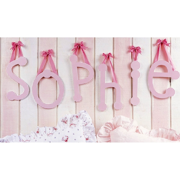 My Baby Sam Pink Gingham Decorative Lettering