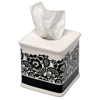 Esmee Black and White Tissue Holder