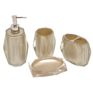 Fiore Taupe Bath Accessory 4-piece Set