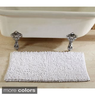 Hand-woven Chenille Rocks Cotton 24 x 36 Bath Rug