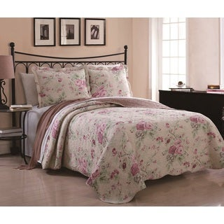 Sadie Floral 3-piece Quilt Set