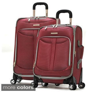 Olympia Tuscany 2-piece Expandable Spinner Luggage Set