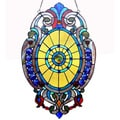Tiffany-style Victorian Design Oval Window Panel