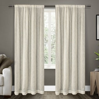 Belgian Textured Rod Pocket 84 inch Curtain Panel Pair