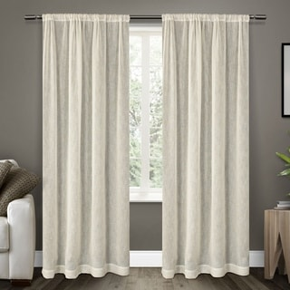 ATI Home Belgian Textured Sheer Rod Pocket Curtain Panel Pair