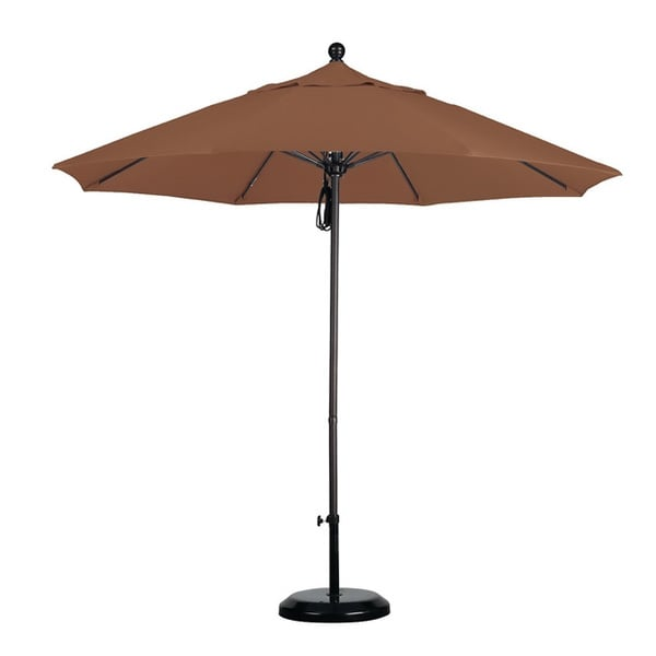 Commercial Grade 9-foot Sunbrella Aluminum Umbrella with Stand
