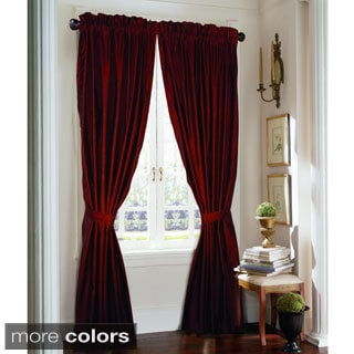 Rose Tree Majesty 84-inch Faux Silk Curtain Panel Pair