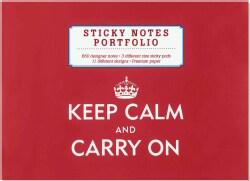 Keep Calm & Carry on Sticky Notes Portfolio (Notebook / blank book)