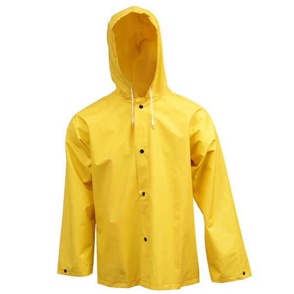 Men's Yellow 0.35mm Industrial Jacket with Attached Hood