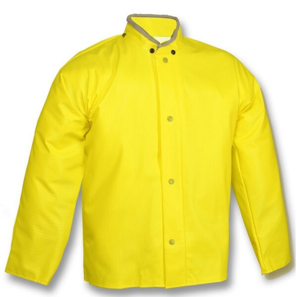 American J32007 Plain Storm Fly Front Jacket, Yellow