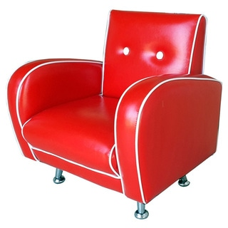 Red Vanilla Flambay Red Mini Arm Chair