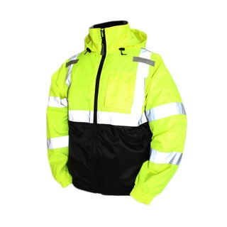 Bomber II Fluorescent Yellow/ Green/ Black Safety Jacket