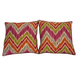 20 x 20-inch Mountain Pink Accent Pillow (Set of 2)