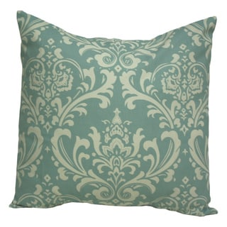 Taylor Marie 20 x 20-inch Village Blue Damask Pillow Cover