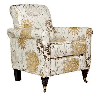 Portfolio Hyde Yellow Flower Arm Chair