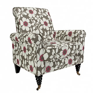 Portfolio Hyde Grey Flower Arm Chair