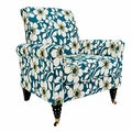 angelo:HOME Harlow Juniper Dusk Blue Modern Flower Arm Chair