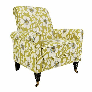 Portfolio Hyde Green Flower Arm Chair