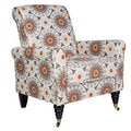 angelo:HOME Harlow Cafe Brown Garden Wheel Arm Chair