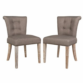 angelo:HOME Lexi Smoke Gray Sand Dining Chairs (Set of 2)