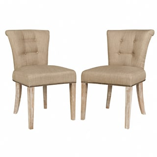 angelo:HOME Lexi Sandstone Khaki Brown Twill Dining Chair (Set of 2)