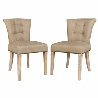 Portfolio Lambert Khaki Brown Twill Dining Chair (Set of 2)