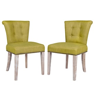 angelo:HOME Lexi Green Bamboo Twill Dining Chairs (Set of 2)