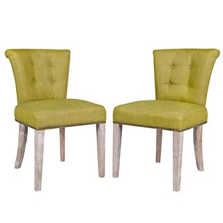 Portfolio Lambert Green Twill Dining Chairs (Set of 2)