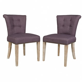 Portfolio Lambert Purple Twill Dining Chair (Set of 2)