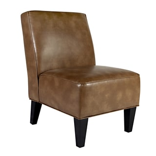 Portfolio Madigan Chocolate Brown Renu Leather Armless Chair