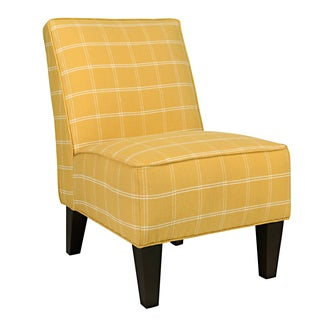 Portfolio Madigan Yellow Square Armless Chair