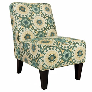 Portfolio Madigan Turquoise Circles Armless Chair