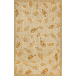 Floating Leaves Outdoor Rug (4'11X7'6)