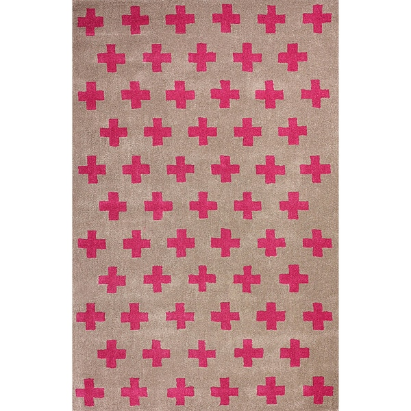 nuLOOM Hand-tufted Sergio Wool Fuschia Rug (8' 6 x 11' 6 )