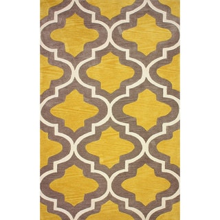 nuLOOM Hand-tufted Moroccan Trellis Gold Rug (8' 6 x 11' 6)
