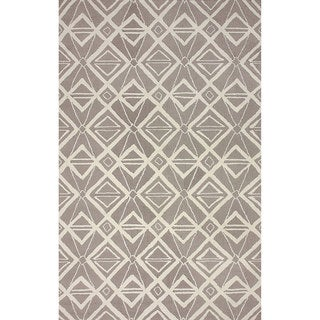 nuLOOM Hand-hooked Indoor/ Outdoor Grey Rug (7' 6 x 9' 6)