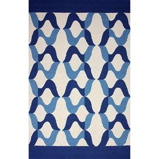 nuLOOM Hand-hooked Indoor/ Outdoor Blue Rug (5' x 8')