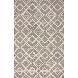nuLOOM Hand-hooked Indoor/ Outdoor Grey Rug (5' x 8')