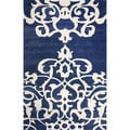 nuLOOM Hand-tufted Crown Wool Blue Rug (5' x 8')