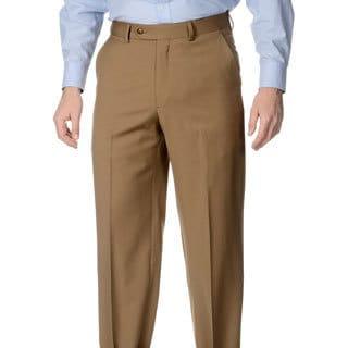 Palm Beach Men's Caramel Flat Front Pants