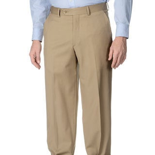 Henry Grethel Men's Tan Big & Tall Stretch Waist Flat Front Pants