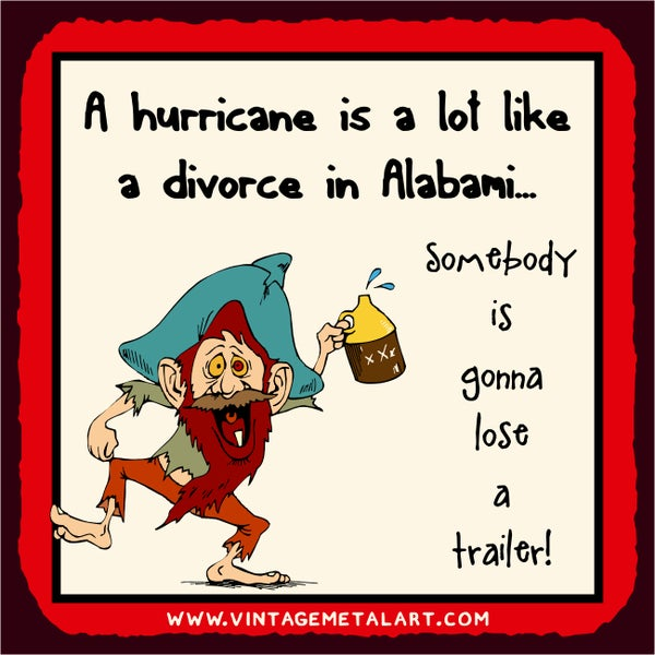 R. Lawrence 'Hurricane A Lot Like Alabami' Mini Vintage Tin Sign 12612931