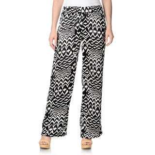 Chelsea & Theodore Women's Tribal Printed Palazzo Pants