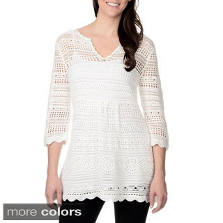 Chelsea & Theodore Women's Lightweight Crocheted Tunic
