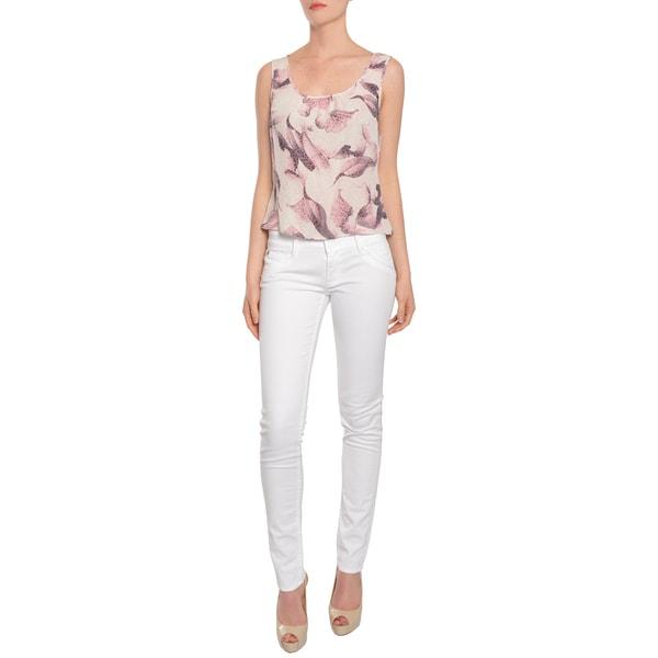 Escada Women's Exotic Leopard/ Floral Print Silk Tank Top