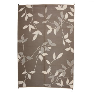 Royal Sun Brown Leaf Reversible Patio Mat (6' x 9')